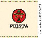 mexico fiesta logo design... | Shutterstock .eps vector #475186594