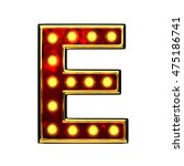 e isolated golden letter with... | Shutterstock . vector #475186741