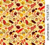 woodland wild animals and...   Shutterstock .eps vector #475187155