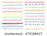 wax crayon colored borders set. ... | Shutterstock .eps vector #475188427