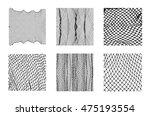 six different net patterns....   Shutterstock .eps vector #475193554