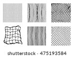 six different net patterns.... | Shutterstock .eps vector #475193584
