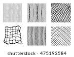 six different net patterns.... | Shutterstock .eps vector #475193584