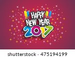 happy new year 2017 celebration ... | Shutterstock .eps vector #475194199