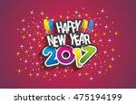 happy new year 2017 celebration ... | Shutterstock .eps vector #475194199
