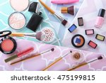 cosmetic products and brushes...   Shutterstock . vector #475199815