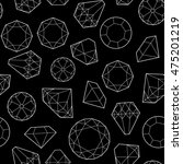 seamless pattern with diamonds...   Shutterstock . vector #475201219