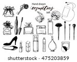 hand drawn collection of make... | Shutterstock .eps vector #475203859