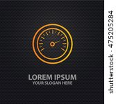 speed design on dark background ... | Shutterstock .eps vector #475205284