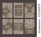 vintage invitation cards set... | Shutterstock .eps vector #475206379