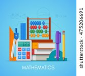 math science education concept... | Shutterstock .eps vector #475206691