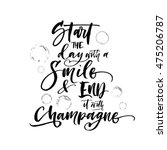 start the day with smile and... | Shutterstock .eps vector #475206787