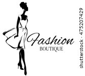 fashion boutique background... | Shutterstock .eps vector #475207429