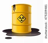 yellow metal barrel with...   Shutterstock .eps vector #475209481