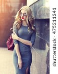 fashion portrait of young... | Shutterstock . vector #475211341