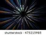abstract long exposure  speed... | Shutterstock . vector #475215985
