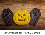 Shaped Cookie Halloween Pumpki...