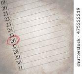 twenty six is the number in...   Shutterstock . vector #475222219