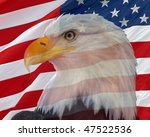 bald eagle with an american... | Shutterstock . vector #47522536