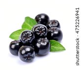 black chokeberry close up.... | Shutterstock . vector #475226941