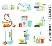 cleaning household equipment... | Shutterstock .eps vector #475236994