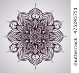 isolated floral indian mandala. ... | Shutterstock .eps vector #475245751
