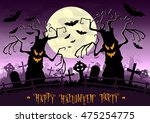 halloween background. scary... | Shutterstock .eps vector #475254775
