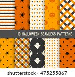ten halloween different... | Shutterstock .eps vector #475255867