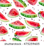 seamless pattern of watercolor... | Shutterstock . vector #475259605