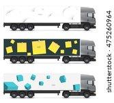 set of templates for transport. ... | Shutterstock .eps vector #475260964