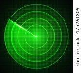 realistic vector radar in...   Shutterstock .eps vector #475261309