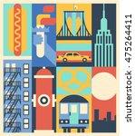 New York  Vector Background