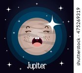 jupiter planet character space... | Shutterstock .eps vector #475269319