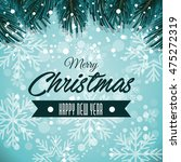 happy merry christmas card... | Shutterstock .eps vector #475272319
