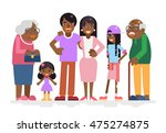 african family characters child ... | Shutterstock .eps vector #475274875