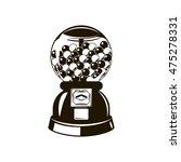 black and white gumball machine.... | Shutterstock .eps vector #475278331
