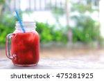 ice tomato juice | Shutterstock . vector #475281925