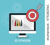 search engine optimitation... | Shutterstock .eps vector #475282561