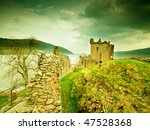 old castle scotland | Shutterstock . vector #47528368