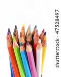set pencils on white background ...   Shutterstock . vector #47528497