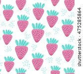 lovely vector seamless pattern... | Shutterstock .eps vector #475285864