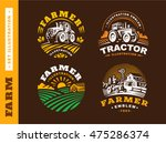 set illustration farm logo on... | Shutterstock .eps vector #475286374