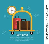 best hotel set services icons... | Shutterstock .eps vector #475286395