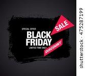 black friday sale banner | Shutterstock .eps vector #475287199