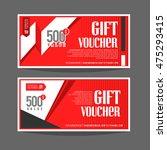 gift voucher template. for gift ... | Shutterstock .eps vector #475293415