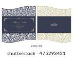 wedding invitation baroque.... | Shutterstock .eps vector #475293421