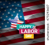 usa labor day vector background ... | Shutterstock .eps vector #475293607