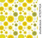 seamless texture sunflowers | Shutterstock .eps vector #475297414
