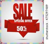 super sale banner. sale... | Shutterstock .eps vector #475297489
