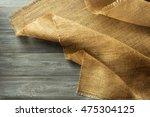 burlap hessian sacking on... | Shutterstock . vector #475304125